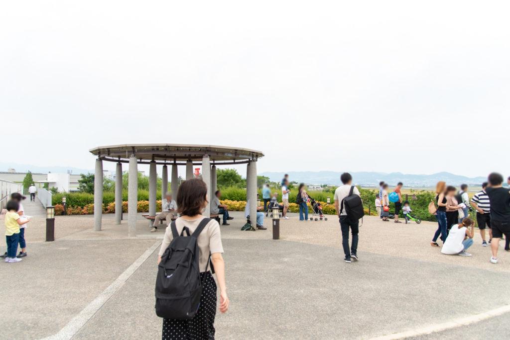 伊丹市にある伊丹スカイパークの大空の丘全景