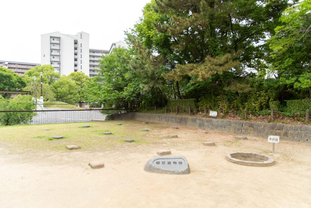 有岡城跡(伊丹城跡)の礎石建物跡